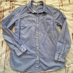 Old Navy 'The Classic Shirt' pineapple pattern-Med